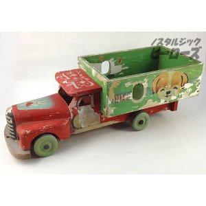 画像1: 戦前品 木製ボンネットトラック
