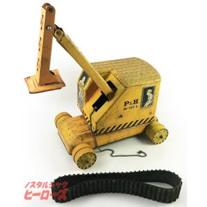 画像1: アサヒ玩具/ブリキ P&H パワーショベルカー