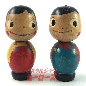 画像1: 不二家ペコちゃん&ポコちゃんこけしJ ハイカップ景品