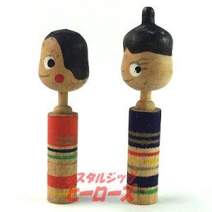 画像2: 不二家ペコちゃん&ポコちゃんこけし 雛人形