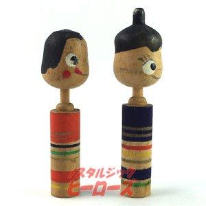 画像3: 不二家ペコちゃん&ポコちゃんこけし 雛人形