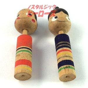 画像5: 不二家ペコちゃん&ポコちゃんこけし 雛人形