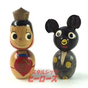 画像1: 不二家ポコちゃんこけし 金太郎&熊