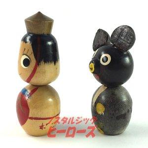 画像2: 不二家ポコちゃんこけし 金太郎&熊