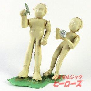 画像1: 旧イマイ/オート流星号の人形(ジェッター、水島かおる) 組立済みプラモデル
